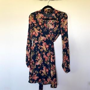 Aakaa Floral Boutique Wrap Dress